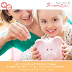 Ensinar para a #criançada o como lidar com o dinheiro é o primeiro passo para criar adultos e #famílias financeiramente saudáveis e sustentáveis.  Continue esta leitura e veja que dar um cofrinho para o seu filho é mais importante do que você imagina!  Acesse ➡https://meumundopersonalizado.com.br/blog/seu-filho-ja-recebe-mesada-e-hora-de-ensina-lo-a-usar-o-cofrinho/ #blogmeumundopersonalizado #lovemeumundopersonalizado #educação