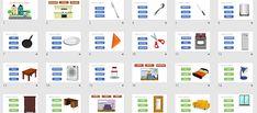 LES PARTS DE LA CASA vocabulari la casa cuina bany Desktop Screenshot, Houses
