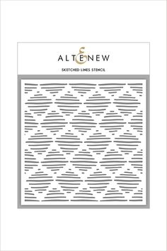 This stencil will allow you to add a fun pattern of sketched lines to your project. Altenew stencils look beautful when blended with our Crisp Dye Inks, or you can add a splash of color and pattern wi