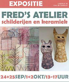 LEUK! De kunstenaars van Fred's Kunstatelier exposeren in het weekend van 24 en 25 september en 1 en 2 oktober in Het Weefhuis, Lagedijk 39 in Zaandijk. Tussen 13:00 en 17:00 ben je van harte welkom om de expositie te bekijken! http://www.prinsenstichting.nl/#utm_sguid=147947,f7b34b77-8184-75b6-841c-ffaac68bb201