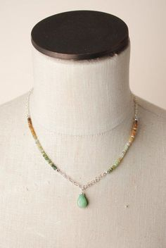 This unique handmade artisan dangle chandelier necklace for women features Peruvian Opal, agate and other gemstones on sterling silver gemstone chain with a chandelier opal pendant.   A light and colo