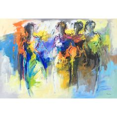 De mooiste schilderijen van Maria de Vries zijn beschikbaar in onze kunstuitleen en ook online te koop. Nu met gratis boek. Modern Pictures, Painting People, Cg Art, Impressionist Art, Grafik Design, African Art, Modern Art, Concept Art, Art Drawings