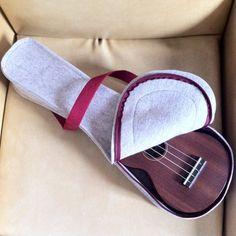 Wool felt ukulele case