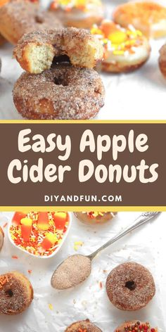 Baked Donut Recipes, Baked Donuts, Doughnuts, Delicious Donuts, Delicious Desserts, Yummy Food, Yogurt Substitute In Baking, Breakfast Pastries, Breakfast Recipes