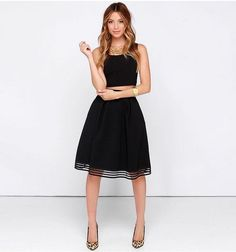 Black A-Line Skirt - Vintage Inspired