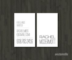 Personalized Business Cards SIMPLE 1 Box by vectorelle on Etsy