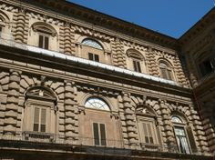 Palazzo Pitti, Florence, Italy; the courtyard added by Bartolomeo Ammannati between 1560-1570.