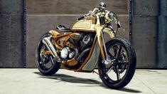 "Wow! Yamaha XV950 Bobber ""Playa del Rey"" by Matt Black Custom #bobber #motorcycles #motos | caferacerpasion.com"