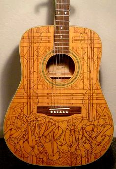 guitars pyrography git fiddles pinterest pyrography guitars and wood burning. Black Bedroom Furniture Sets. Home Design Ideas