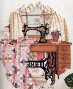 Counted cross-stitch Love this! Cross Stitch Love, Counted Cross Stitch Patterns, Cross Stitch Designs, Cross Stitch Embroidery, Embroidery Patterns, My Sewing Room, Sewing Art, Sewing Crafts, Quilting