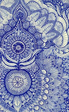 blue by Yes Menu. Art prints available through Zentangle doodle style Print Texture, Gold Texture, Art Bleu, Pretty Patterns, Blue Patterns, Indian Patterns, Beautiful Patterns, Art Patterns, Henna Patterns