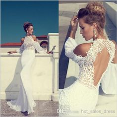 2014 Julie Vino Unique Halter Lace Backless Mermaid Mermaid Wedding Dresses | Buy Wholesale On Line Direct from China