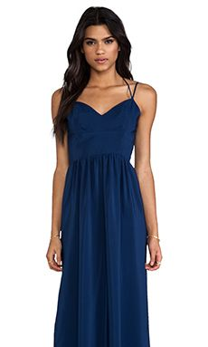 5e0ec4b61143 Amanda Uprichard Slit Gown in Emerson in navy (we also have black
