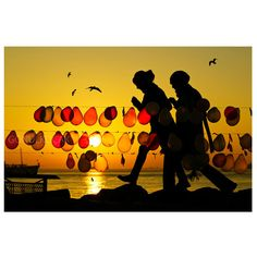 silhouette photography Balloon  Sunset photography color by gonulk