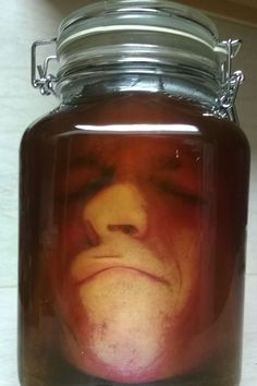 lab head in a jar- FULL tutorial with photoshop details, template to make your own!