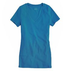Basic V Neck Tee Great layering piece in a pretty shade of teal. Worn less than 5 times. Great condition. J. Crew Factory Tops Tees - Short Sleeve