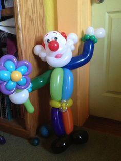 Clown w/ flower
