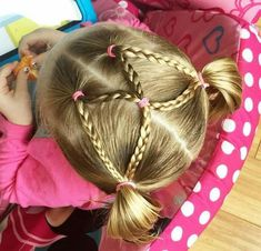 20 Trendy Holiday Hairstyles For Kids Schools Little Girl Hairdos, Baby Girl Hairstyles, Hairstyles For School, Cute Hairstyles, Braided Hairstyles, Short Hair Styles, Natural Hair Styles, Girl Hair Dos, Holiday Hairstyles