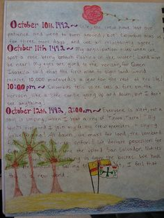Waldorf ~ 7th grade ~ Age of Exploration and Discovery ~ Exploration Journal
