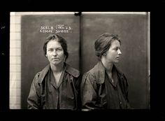 Alice Adeline Cooke was convicted of bigamy and theft. By the age of 24 she had amassed an impressive number of aliases and at least two husbands. She was described by police as 'rather good looking'. Photograph by The Sydney Justice & Police Museum Old Photos, Vintage Photos, Forensic Photography, Before Us, Held, Mug Shots, Vintage Photography, How To Look Better, At Least