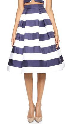 Striped skirt. love!