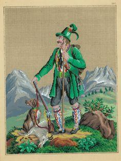 Berlin wool work pattern увеличенный