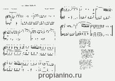 """Ноты песни """"Колыбельая"""" Моцарта"""