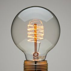 Globe Light Bulb with Spiral Filament