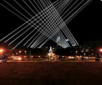 Open Air, by Mexican-Canadian media artist Rafael Lozano-Hemmer, combines public art with mobile technology to create a spectacular, interactive experience that will illuminate the night sky from Philadelphia's Benjamin Franklin Parkway (Sept 20-Oct 14).
