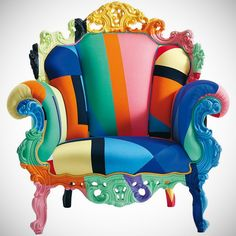 (25) Fancy - Proust Geometrica Armchair by Alessandro Mendini. $12,000!  Very cool but makes me a bit nauseous