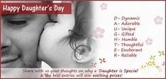 To highlight this fact an entire day is dedicated to the girls, Happy Daughters Day, 24 September, Ebook Pdf, Thoughts, Children, Events, Infants, Kids, Big Kids