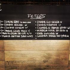 No messing around here. Welcome to the new filter menu for the next 10 days. #letmetellyousomething #whatalineup #coffee #coffeegram #instacoffee #vsco #surryhills #sydney #australia #joker #panama #ethiopia #ninetyplus #gesha #v60 #aeropress #alternativebrewing #thingsaboutcoffee #originalaeropress http://ift.tt/1Vbg53z