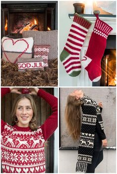 Julegleder Christmas Stockings, Christmas Sweaters, Winter Holidays, Knitting, Holiday Decor, Home Decor, Needlepoint Christmas Stockings, Winter Vacations, Decoration Home