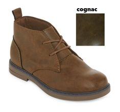 2938c74974c Arizona Jchukka Boys Chukka Boots Lace-up Brown Kids size 13 1 2 3 4 NEW