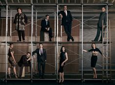The Good Wife Goes All Chicago for Its Season 7 Cast Photo  The Good Wife, Season 7
