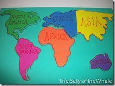 DIY Foam World Map Puzzle