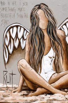Canvas Artwork, Canvas Art Prints, Framed Canvas, Diy Painting, Painting & Drawing, Angel Artwork, Jesus Artwork, Angel Drawing, Angel Pictures