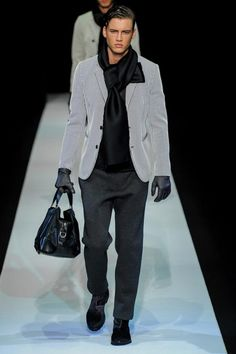 I love men purses Emporio Armani Fall/Winter 2013-2014.