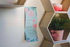 006 - miami flamingo geboortekaart