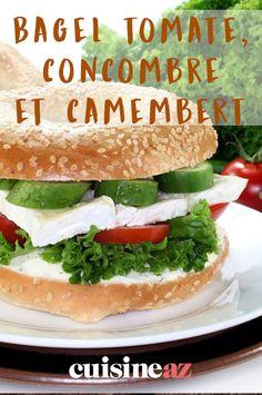 Le bagel tomate, concombre et camembert est un repas qui s'emporte facilement. #recette#cuisine#bagel#tomates #comcombre#camembert Bagels, Pain Bagel, Hamburger, Sandwiches, Barbecue, Sims, Food, Easy Cooking, Cooking Recipes