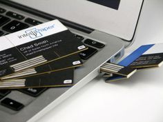 Business card turned USB flash drive. Wow. Neat concept. On KickStarter now.