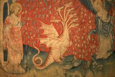 Chateau d'Angers - detail Tapestry of the Apocalypse, 1377-1380.