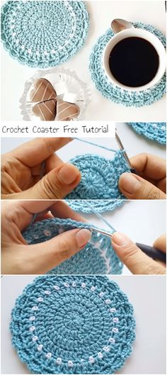 Terrific Totally Free Crochet coasters tutorial Popular How To Crochet A Coaster Free Tutorial – Crochetopedia Learn To Crochet, Knit Or Crochet, Crochet Gifts, Free Crochet, Crochet Coaster Pattern Free, Things To Crochet, Crochet Toys, Crochet Baby, Free Pattern