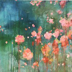 ...abstract art by sonja blaess... petit jardin... 2017...