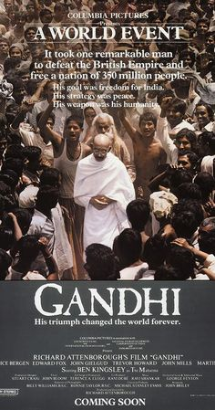 Directed by Richard Attenborough. With Ben Kingsley, John Gielgud, Candice Bergen, Edward Fox. Gandhi's character is fully explained as a man of nonviolence. Through his patience, he is able to drive the British out of the subcontinent. And the stubborn nature of Jinnah and his commitment towards Pakistan is portrayed.