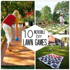 10 Incredible DIY Lawn Games- Bowling would be fun