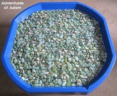 Adventures of Adam DIY pebble Tuff Spot mat Tuff Spot, Tuff Tray, Pvc Fabric, Make Your Own, How To Make, Small World, How To Dry Basil, Herbs, Trays