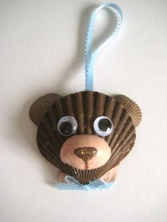 Teddy Bear Ornament by Lorishellart on Etsy, $8.00