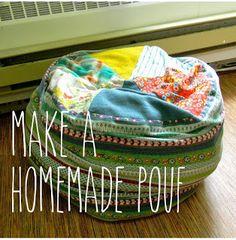 pouf/ floor cushion/ bean bag diy