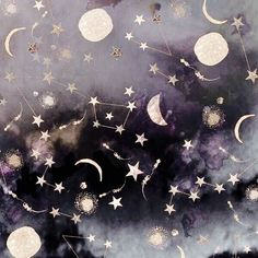 Moon and constellations. Wicca, Yennefer Of Vengerberg, Buch Design, Witch Aesthetic, Artemis Aesthetic, Aesthetic Space, Aesthetic Themes, Coraline Aesthetic, Anxiety Aesthetic